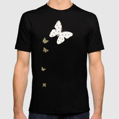 Golden touch II - Gold glitter polkadots Mens Fitted Tee MEDIUM Black