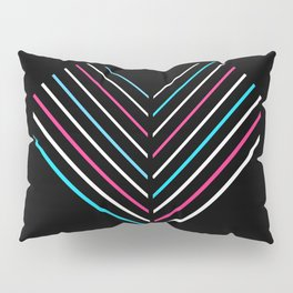 Transcend Neon Heart Pillow Sham