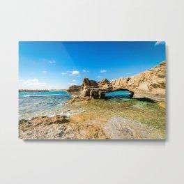 Grotto seascape Metal Print