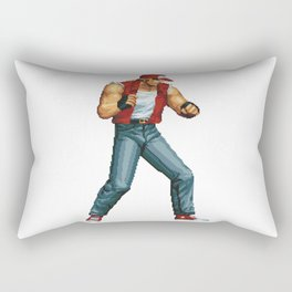 Terry Bogard pixel art Retrogaming Rectangular Pillow