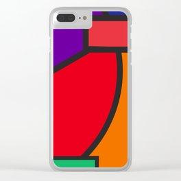 cubism tribute Clear iPhone Case