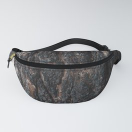 Pine bark after fire. Fanny Pack