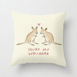 Wallabae Throw Pillow