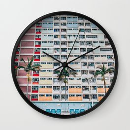 Rainbows at Choi Hung Wall Clock