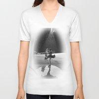 wonderland V-neck T-shirts featuring WONDERLAND by GL-ART-PHOTOGRAPHY