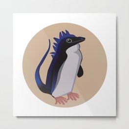 Dino-Penguin Metal Print
