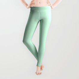 Pale Green Summermint Pastel Green Mint Leggings