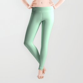 Pale Green Summermint Pastel Green Mint Leggings