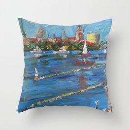 Expression Rīga, Latvia Throw Pillow
