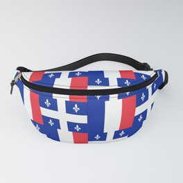 Mix of flag : France and Quebec Fanny Pack