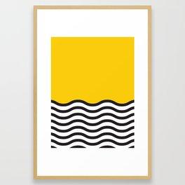 Waves of Yellow Framed Art Print