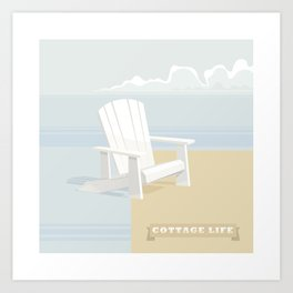 Cottage Life (2) Art Print