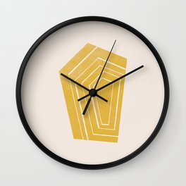 Geode II - in Citrine Wall Clock