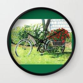 Impatiens to Ride Wall Clock
