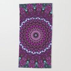 purple and blue kaleidoscope Beach Towel