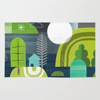 norway Area & Throw Rugs featuring Norway by Jessie Ford