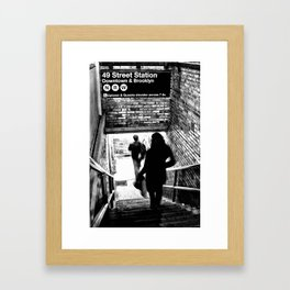 49th Street Station Framed Art Print