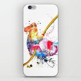 Chameleon Splash of Colors iPhone Skin