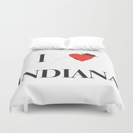 I heart Indiana Duvet Cover