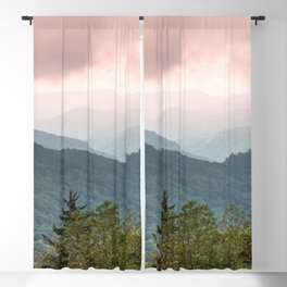 Great Smoky Mountain National Park Sunset Layers III - Nature Photography Blackout Curtain