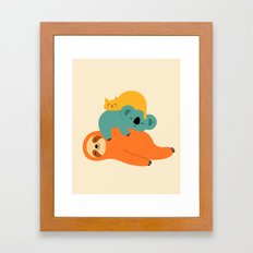 Being Lazy Framed Art Print