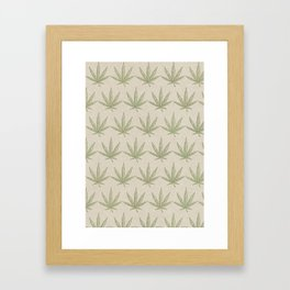 Weed Leaf Framed Art Print