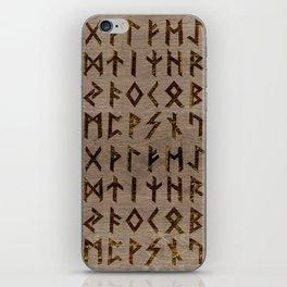 Ancient Celtic Runes  Alphabet pattern iPhone Skin