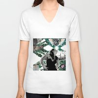 model V-neck T-shirts featuring model by Juliana Polippo