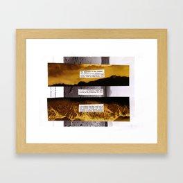 Separation Framed Art Print