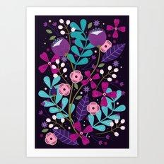 Starlight Blooms Art Print