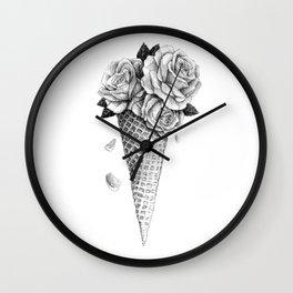 Ice Cream Roses Wall Clock