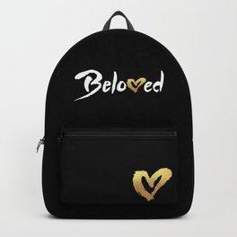 Beloved - White & Gold Backpack