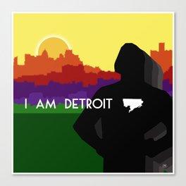 I AM DETROIT Canvas Print