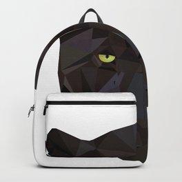 Black Jaguar Panther Wild animals Geometric Backpack