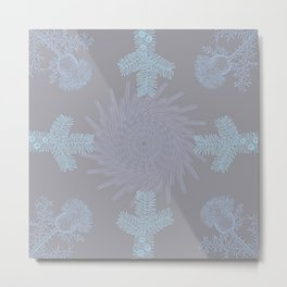 Delicate Pastel Wild Winter Garden Flowers Metal Print