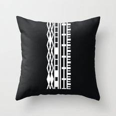 The DNA of colours - White Throw Pillow