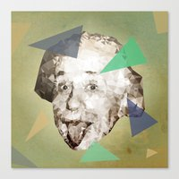 Smile Einstein, Smile Canvas Print