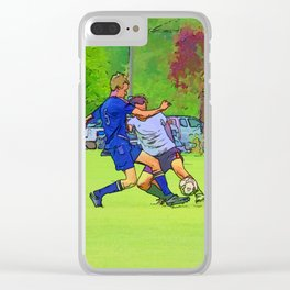The Big Steal - Soccer Players Clear iPhone Case
