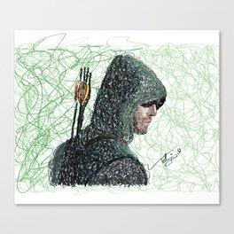 scribble arrow Canvas Print