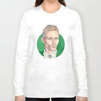 tom hiddleston Long Sleeve T-shirts featuring Hiddleston by Megan Diño