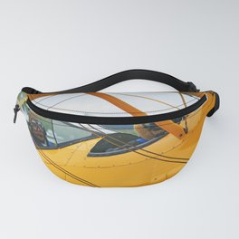 Oldtimer yellow plane Fanny Pack