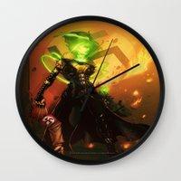 aquaman Wall Clocks featuring Anne Frankenstein AF1 by Lazy Bones Studios