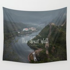 A different view of The Great Wall of China Wall Tapestry