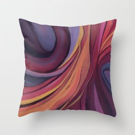 Color Ring Throw Pillow