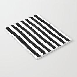 Black and White Cabana Stripes Palm Beach Preppy Notebook