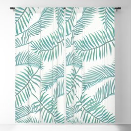 Palm Leaf Pattern Island Paradise Blackout Curtain