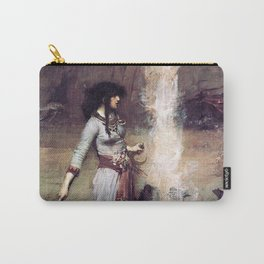 THE MAGIC CIRCLE - JOHN WILLIAM WATERHOUSE Carry-All Pouch