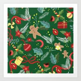 Christmas Pattern 14 Art Print