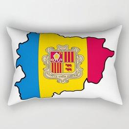 Andorra Map with Andorran Flag Rectangular Pillow