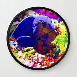 Wild Fishy Story By A Blue Fish Wall Clock